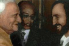 À  NewDelhi avec le président indien V. V. Giri (1987)