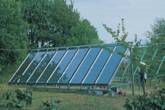 Using alternative energies: solar panels