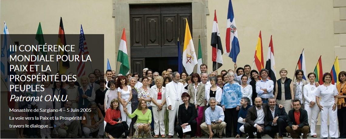 III CONFÉRENCE MONDIALE POUR LA PAIX ET LA PROSPÉRITÉ DES PEUPLES<br><i>Patronat O.N.U.</i>